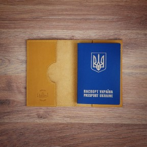 futlers passport cover yellow