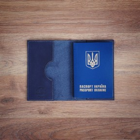 futlers passport cover blue