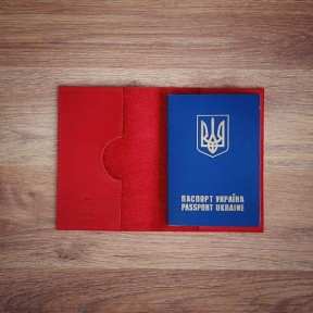 futlers passport cover red