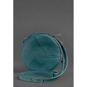 blanknote кожаная круглая женская сумка бон-бон зеленая