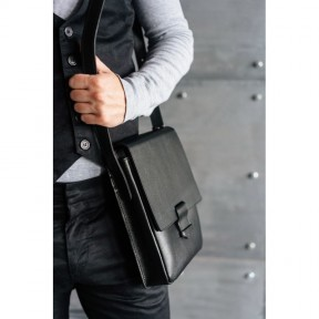 blanknote мужская кожаная сумка-мессенджер esquire черная