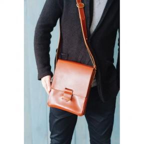 blanknote мужская кожаная сумка-мессенджер esquire светло-коричневая