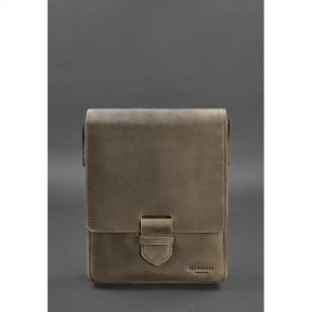 blanknote мужская кожаная сумка-мессенджер esquire темно-коричневая