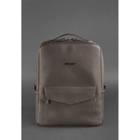 blanknote кожаный городской женский рюкзак на молнии cooper темно-бежевый