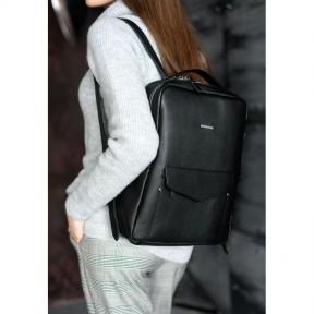 blanknote кожаный женский городской рюкзак на молнии cooper черный