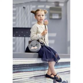blanknote фетровая детская сумка miss kitty с кожаными коричневыми вставками