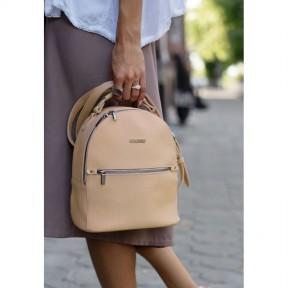 blanknote кожаный женский мини-рюкзак kylie светло-бежевый