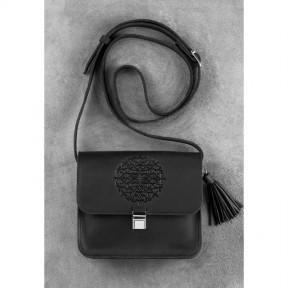 blanknote кожаная женская бохо-сумка лилу черная