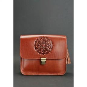 blanknote кожаная женская бохо-сумка лилу светло-коричневая