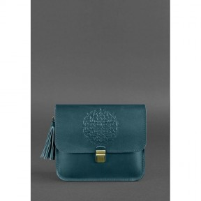 blanknote кожаная женская бохо-сумка лилу зеленая