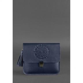 blanknote кожаная женская бохо-сумка лилу темно-синяя