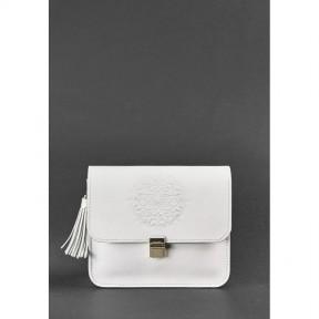 blanknote кожаная женская бохо-сумка лилу белая