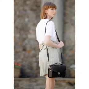 blanknote женская кожаная сумка-кроссбоди lola черная