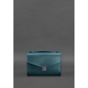 blanknote женская кожаная сумка-кроссбоди lola зеленая