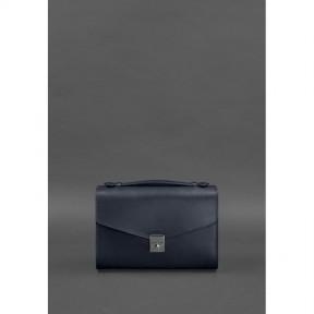 blanknote женская кожаная сумка-кроссбоди lola темно-синяя