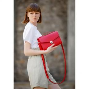 blanknote женская кожаная сумка-кроссбоди lola красная