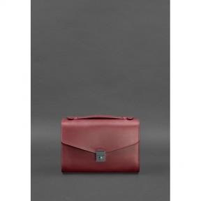 blanknote женская кожаная сумка-кроссбоди lola бордовая