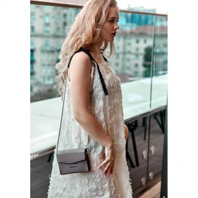 blanknote женская кожаная сумка поясная/кроссбоди mini темно-бежевая