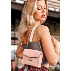 blanknote женская кожаная сумка поясная/кроссбоди mini розовая