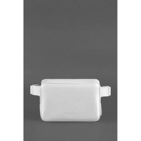 blanknote кожаная женская поясная сумка dropbag mini белая