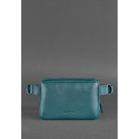 blanknote кожаная женская поясная сумка dropbag mini зеленая