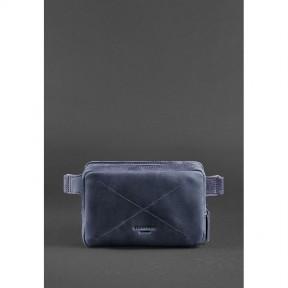 blanknote кожаная поясная сумка dropbag mini синяя