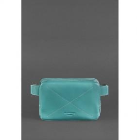 blanknote кожаная женская поясная сумка dropbag mini бирюзовая