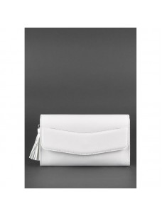 BlankNote Белая кожаная женская сумка Элис