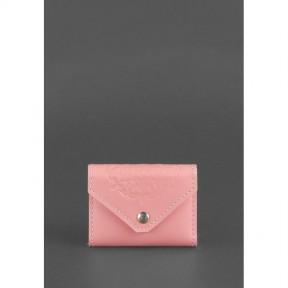 blanknote женский кожаный кард-кейс 3.0 (гармошка) розовый с мандалой
