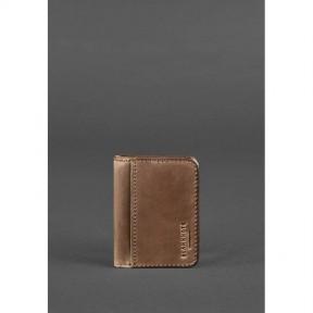 blanknote кожаная обложка для водительских прав 4.0 темно-коричневая