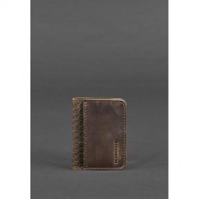 blanknote мужская кожаная обложка для водительских прав 4.0 карбон темно-коричневая