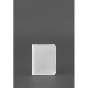 blanknote женская кожаная обложка для водительских прав 4.0 белая