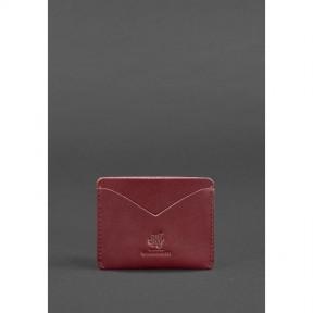 blanknote женская кожаная визитница 5.0 бордовая краст