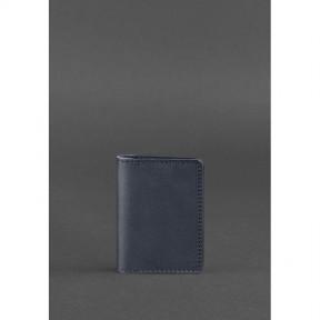 blanknote кожаный кард-кейс 6.0 темно-синий