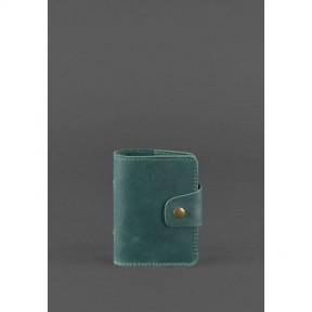 blanknote кожаный кард-кейс 7.1 (книжечка) зеленый