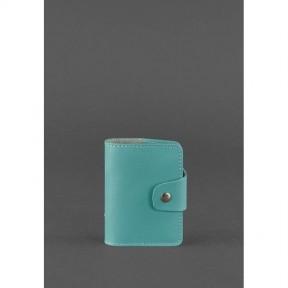 blanknote женский кожаный кард-кейс 7.1 (книжечка) бирюзовый