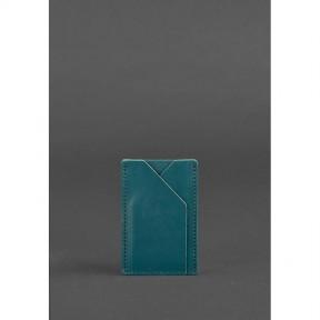 blanknote женский кожаный кард-кейс 8.0 зеленый