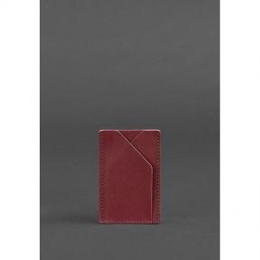 blanknote женский кожаный кард-кейс 8.0 бордовый
