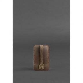 blanknote кожаная ключница 1.0 темно-коричневая