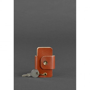 blanknote кожаная ключница смарт-кейс 4.0 светло-коричневая