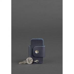 blanknote кожаная ключница смарт-кейс 4.0 темно-синяя