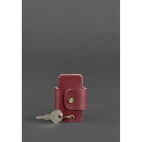 blanknote кожаная женска ключница смарт-кейс 4.0 бордовая