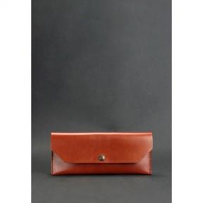 blanknote кожаный клатч-конверт светло-коричневый