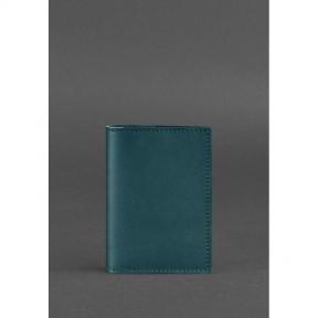 blanknote женская кожаная обложка для паспорта 1.2 зеленая