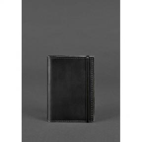 blanknote кожаная обложка для паспорта 1.0 черная crazy horse