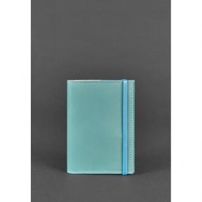 blanknote кожаная женская обложка для паспорта  1.0 бирюзовая