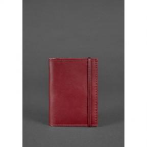 blanknote кожаная обложка для паспорта 2.0 бордовая краст