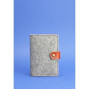 blanknote фетровая обложка для паспорта 3.0 с кожаными коричневыми вставками