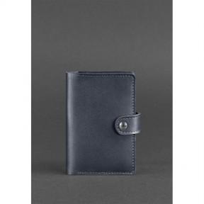 blanknote кожаная обложка для паспорта 3.0 темно-синяя