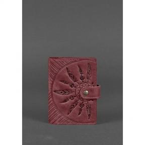 blanknote женская кожаная обложка для паспорта 3.0 инди бордовая